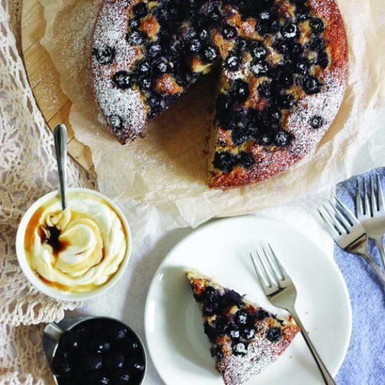 Maple Blueberry Brunch Cake